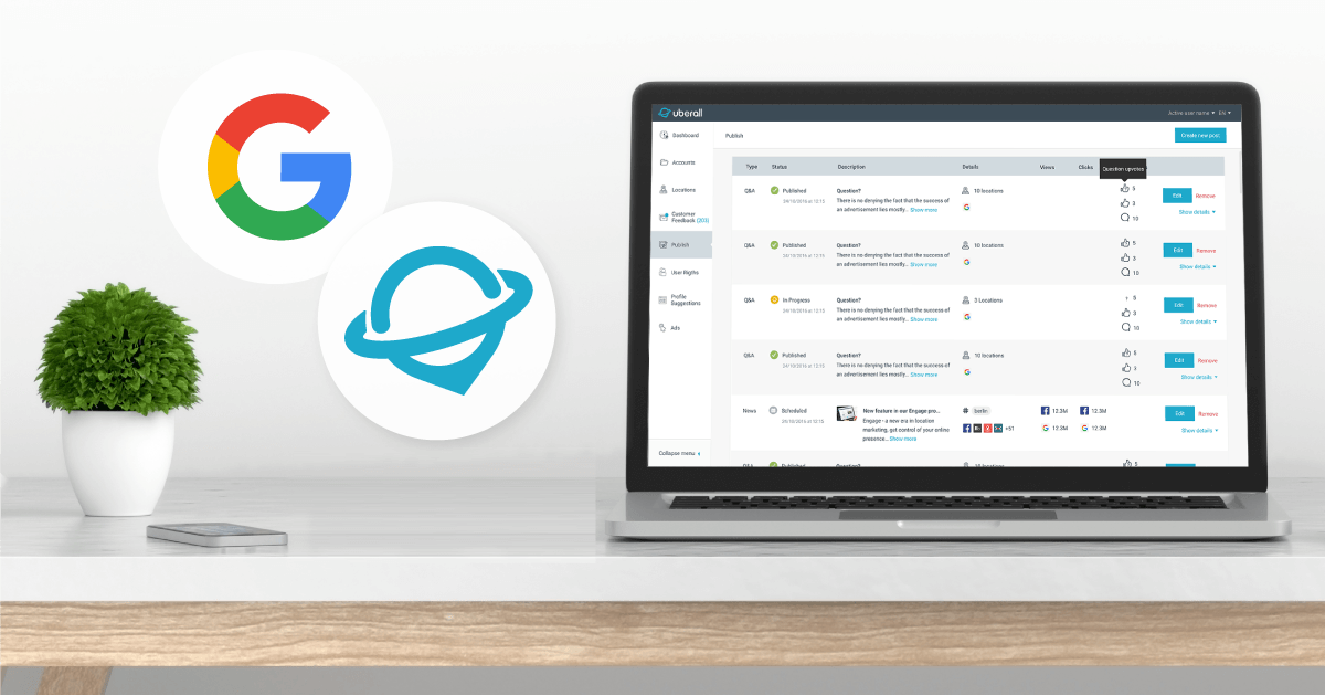 Nurture more advocates with Uberall's new Google My Business API integration
